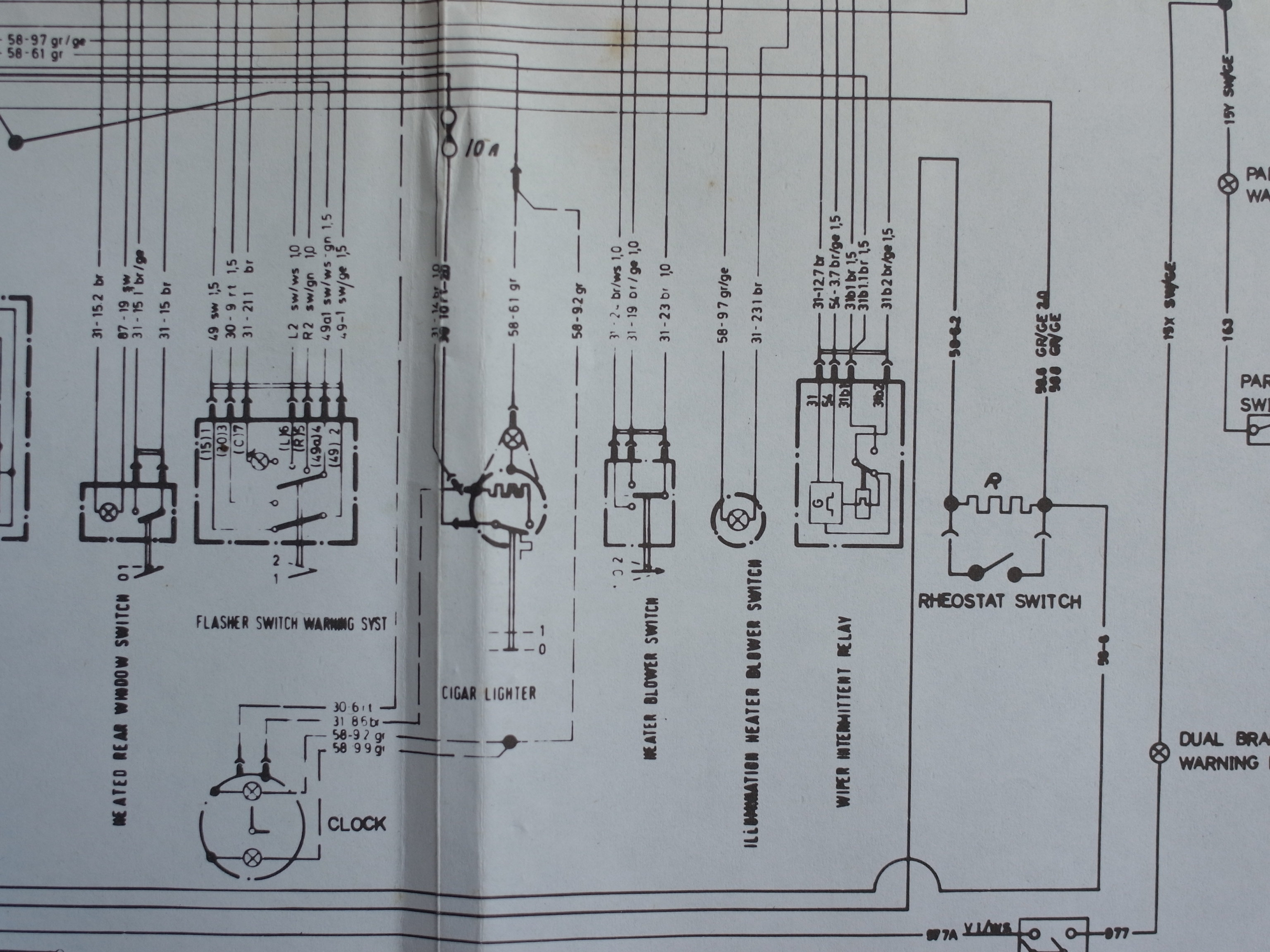 Escort front headlight assembly diagram
