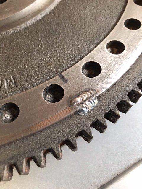 Starter ring, Adapter Ring and Flywheel Tack Weld.jpeg